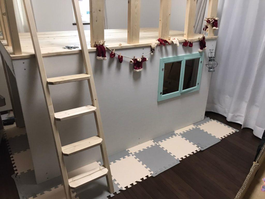 キッズハウス DIY 梯子