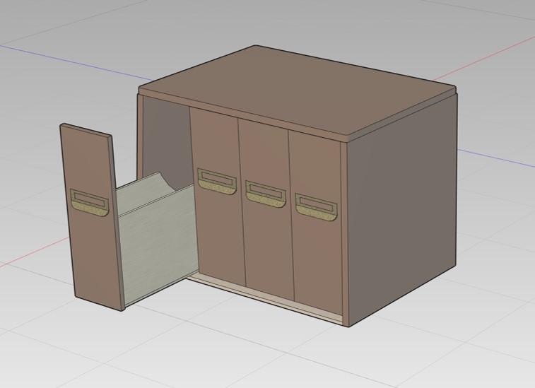 アンティーク調収納ボックス